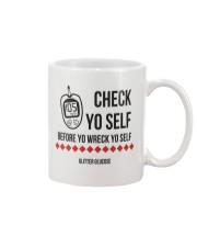 Check Yo Self Mug front