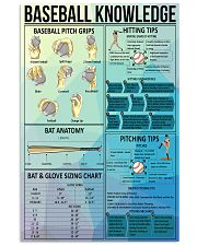 Baseball knowledge poster 11x17 Poster front