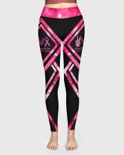 Peace Love Cure Breast Cancer Awareness High Waist Leggings aos-high-waist-leggings-lifestyle-01