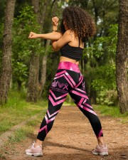 Peace Love Cure Breast Cancer Awareness High Waist Leggings aos-high-waist-leggings-lifestyle-19