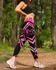 Peace Love Cure Breast Cancer Awareness High Waist Leggings aos-high-waist-leggings-lifestyle-20