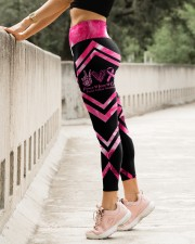 Peace Love Cure Breast Cancer Awareness High Waist Leggings aos-high-waist-leggings-lifestyle-23