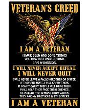 Veteran's Creed I Am A Veteran 11x17 Poster front