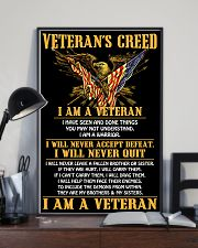 Veteran's Creed I Am A Veteran 11x17 Poster lifestyle-poster-2