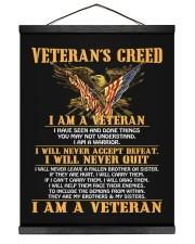 Veteran's Creed I Am A Veteran 16x20 Black Hanging Canvas thumbnail