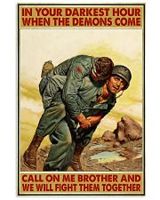 In Your Darkest Hour When The Demons Come  Vertical Poster tile