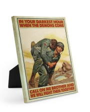 In Your Darkest Hour When The Demons Come  Easel-Back Gallery Wrapped Canvas tile