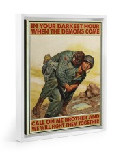 In Your Darkest Hour When The Demons Come  Floating Framed Canvas Prints White tile