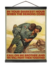 In Your Darkest Hour When The Demons Come  Hanging Canvas tile