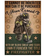 It Cannot Be Inherited Firefighter 11x17 Poster front