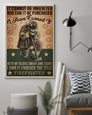 It Cannot Be Inherited Firefighter 11x17 Poster lifestyle-poster-1