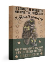 It Cannot Be Inherited Firefighter 11x14 Gallery Wrapped Canvas Prints thumbnail