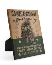 It Cannot Be Inherited Firefighter 8x10 Easel-Back Gallery Wrapped Canvas thumbnail