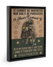 It Cannot Be Inherited Firefighter 11x14 Black Floating Framed Canvas Prints thumbnail