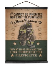 It Cannot Be Inherited Firefighter 16x20 Black Hanging Canvas thumbnail