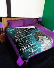 """To My Gorgeous Wife Never Forget That I Love You Large Fleece Blanket - 60"""" x 80"""" aos-coral-fleece-blanket-60x80-lifestyle-front-01"""