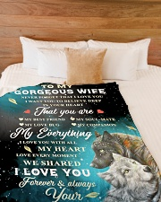 """To My Gorgeous Wife Never Forget That I Love You Large Fleece Blanket - 60"""" x 80"""" aos-coral-fleece-blanket-60x80-lifestyle-front-02"""
