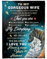 """To My Gorgeous Wife Never Forget That I Love You Large Fleece Blanket - 60"""" x 80"""" front"""