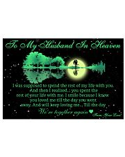 To My Husband In Heaven 36x24 Poster front