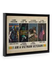 I Am A Vietnam Veteran 14x11 Black Floating Framed Canvas Prints thumbnail