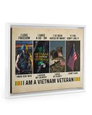 I Am A Vietnam Veteran 14x11 White Floating Framed Canvas Prints thumbnail