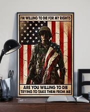 I'm Willing To Die For My Rights 11x17 Poster lifestyle-poster-2