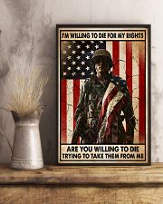 I'm Willing To Die For My Rights 11x17 Poster lifestyle-poster-3