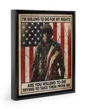 I'm Willing To Die For My Rights Floating Framed Canvas Prints Black tile