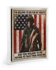 I'm Willing To Die For My Rights Floating Framed Canvas Prints White tile