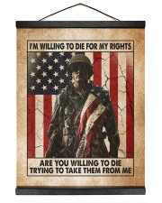 I'm Willing To Die For My Rights Hanging Canvas tile