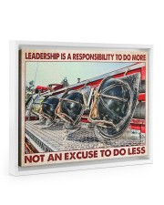 Leadership Is A Responsibility To Do More 14x11 White Floating Framed Canvas Prints thumbnail