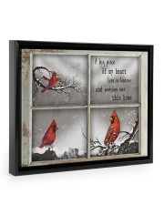 A Piece Of My Heart Lives in Heaven Gifts - TeeF1 14x11 Black Floating Framed Canvas Prints thumbnail