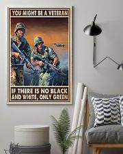 Gift For Veteran You Might Be A Veteran If There Is No Black And White 24x36 Poster lifestyle-poster-1
