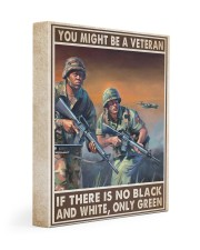 Gift For Veteran You Might Be A Veteran If There Is No Black And White Gallery Wrapped Canvas Prints tile