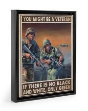 You Might Be A Veteran 11x14 Black Floating Framed Canvas Prints thumbnail