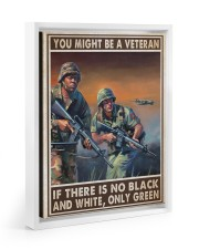 Gift For Veteran You Might Be A Veteran If There Is No Black And White Floating Framed Canvas Prints White tile