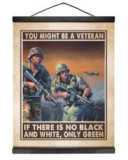 You Might Be A Veteran 16x20 Black Hanging Canvas thumbnail