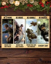 Veteran Gift Airborne US Army Be Strong Be Brave Be Humble Be Badass 36x24 Poster aos-poster-landscape-36x24-lifestyle-24