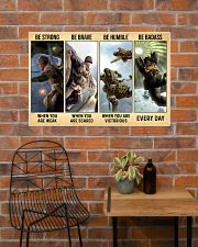 Veteran Gift Airborne US Army Be Strong Be Brave Be Humble Be Badass 36x24 Poster poster-landscape-36x24-lifestyle-20