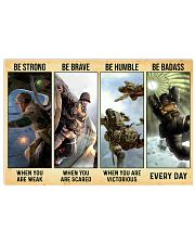 Veteran Gift Airborne US Army Be Strong Be Brave Be Humble Be Badass Horizontal Poster tile