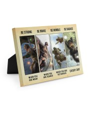 Veteran Gift Airborne US Army Be Strong Be Brave Be Humble Be Badass Easel-Back Gallery Wrapped Canvas tile