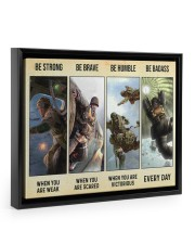 Veteran Gift Airborne US Army Be Strong Be Brave Be Humble Be Badass Floating Framed Canvas Prints Black tile