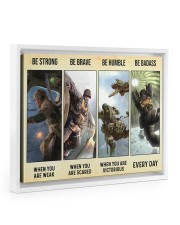 Veteran Gift Airborne US Army Be Strong Be Brave Be Humble Be Badass Floating Framed Canvas Prints White tile