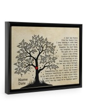 A Limb Has Fallen From The Family Trees Floating Framed Canvas Prints Black tile