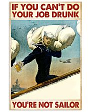 If You Can't Do Your Job Drunk 11x17 Poster front