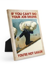 If You Can't Do Your Job Drunk Easel-Back Gallery Wrapped Canvas tile