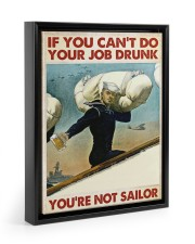 If You Can't Do Your Job Drunk Floating Framed Canvas Prints Black tile