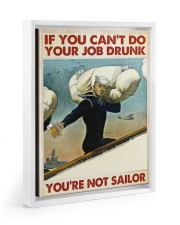 If You Can't Do Your Job Drunk Floating Framed Canvas Prints White tile