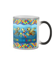 Autism Awareness Turtles It's Ok To Be Different Color Changing Mug tile