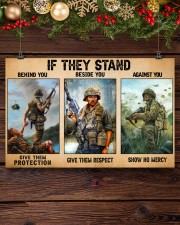 Gift For Veteran If They Stand Behind You Beside You Against You 17x11 Poster aos-poster-landscape-17x11-lifestyle-27